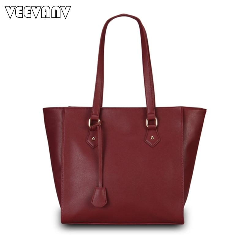 2018 VEEVANV Women Leather Handbag Ladies Tote Handbag Fashion Women Messenger Bag Fashion Shoulder Bag Leather Tote Bags Female