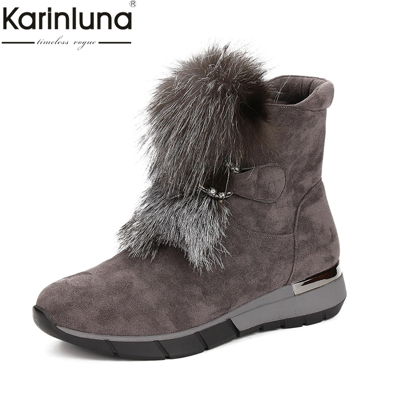 Karinluna Arrivals Dropship Big Size 41 Zip Up Ankle Boots Women Shoes Woman Add Fur Winter Shoes Woman BootsKarinluna Arrivals Dropship Big Size 41 Zip Up Ankle Boots Women Shoes Woman Add Fur Winter Shoes Woman Boots