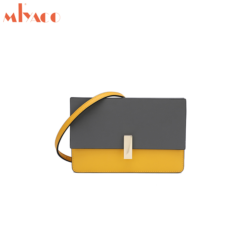 MIYACO Flap Crossbody Bags for Women Genuine Leather Small Messenger Bags Casual Fashion Lady Shoulder Bag