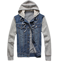 New Brand 2015 Men Jacket Casual Boy S Jeans Jackets With Hood Outdoor Sport Men Jacket