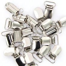 Горячая 20 x скобы зажимы ремешок крючки 20 мм серебристого цвета