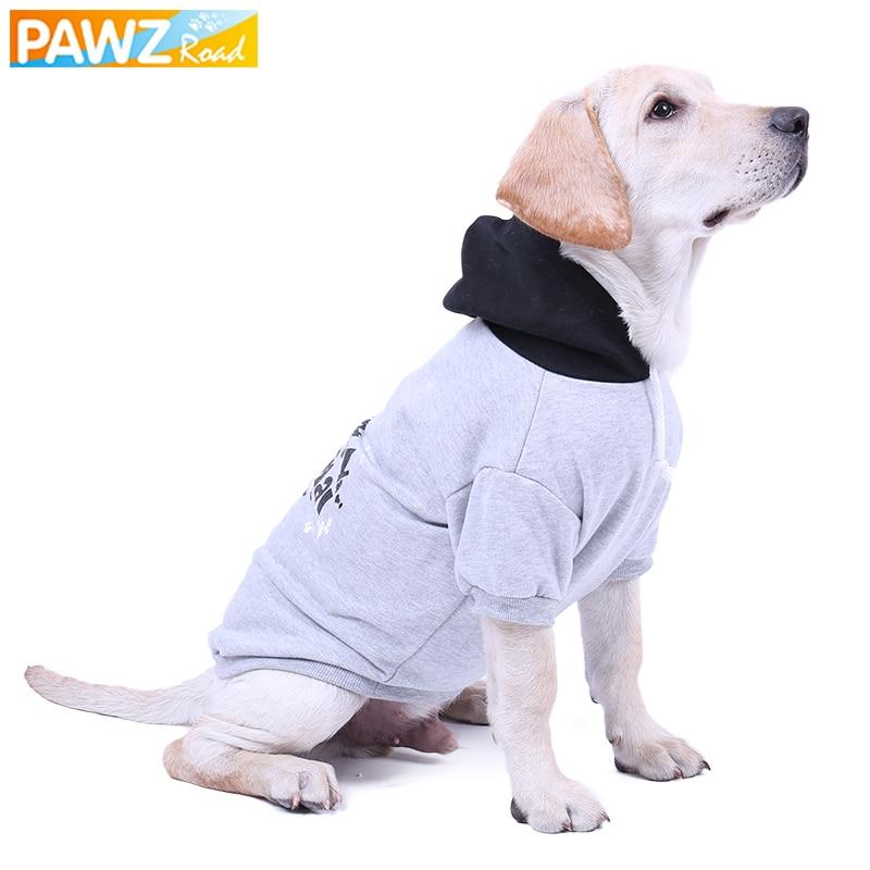 PawzRoad Dog Hoodies Rudens / Ziemas suns Kostīms Liels suns - Mājdzīvnieku produkti