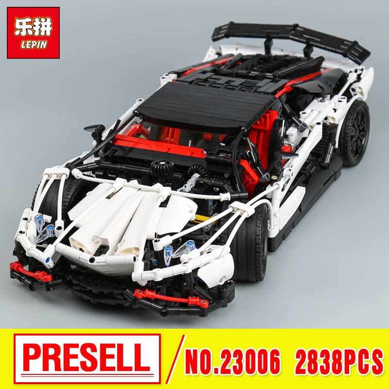 Lepin 23006 Genuine MOC Technic Series The Super Racing Car Set MOC-3918 Building Blocks Bricks Educational Toys Boy Gifts Mode lepin 20054 4237pcs the moc technic series the remote control t1 classic volkswagen camper set 10220 building blocks bricks toys
