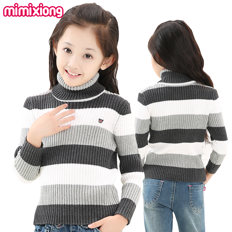 7c679792e Girls Black And White Sweater Winter Cotton Striped Toddler Girl ...