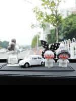 cute car accessories Car interior dashboard creative high quality cute flocking doll net Red duck car decorative ornaments