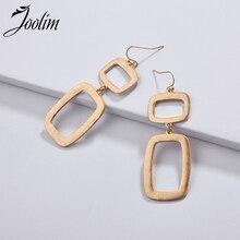 Joolim Jewelry Wholesale/Geometric Gold Drop Earring Dangle Earrings for Women Fashion Wholesale