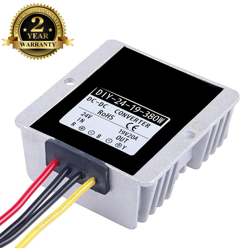 24 V DC 36 V (21 V-40 V) A 19 V 20A 380 W DC convertidor de potencia Buck para coche portátil módulo reductor de potencia regulador de voltaje a prueba de agua 4-Canal Digital transceptor óptico video-fibra de modo único convertidor de fibra óptica FC 20KM