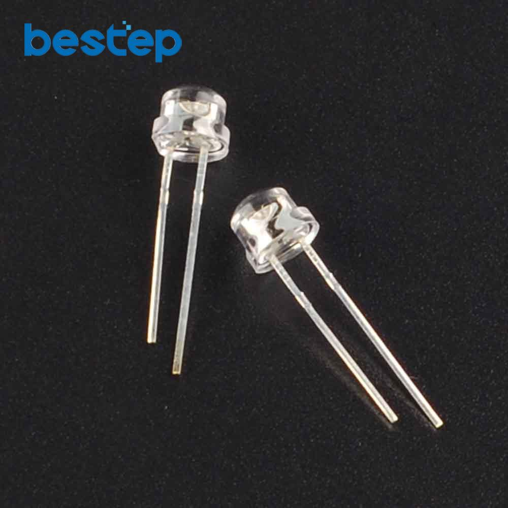 Active Components Diodes Careful 50pcs 5mm 4.8mm Straw Hat Clear Warm White Green Red Blue Purple Yellow Orange Pink Rgb Diy Light Emitting Diode Set
