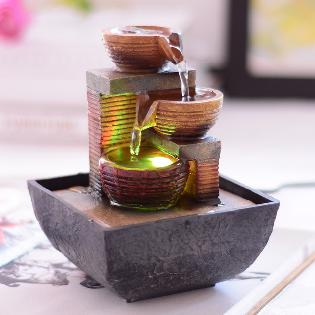 Fengshui Water Fountain Home Decoration New Year Business Gifts Wealth  Bring Antidrying Garden Ornaments