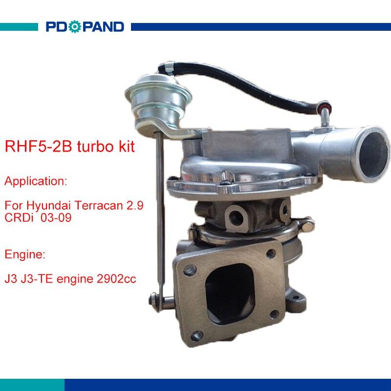 RHF5 2B engine turbo charger kit turbocharger for Hyundai Terracan 2.9 J3 TE 28201 4X700 28201 4X701 28201 4X400 28200 4X400