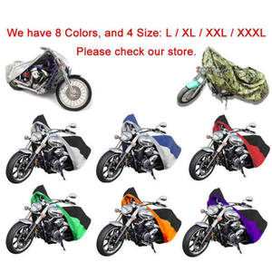 Image 3 - XL Orange/Black Motorcycle Waterproof Motorbike Outdoor Cover Rain Protection Breathable For HARLEY XL FXDF DYNA FAT STREET BOB
