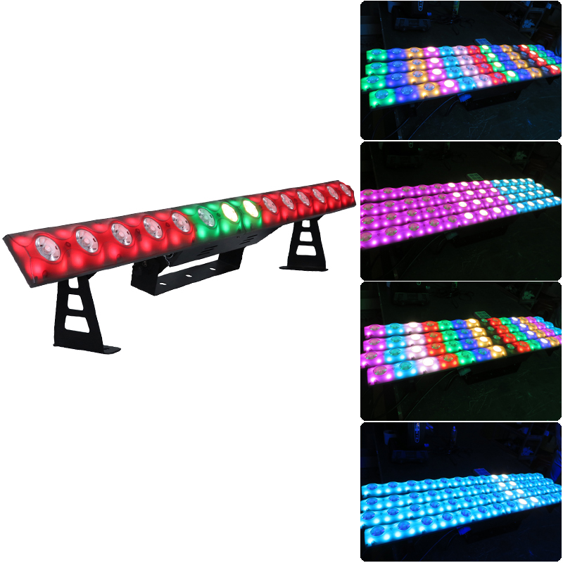 14pcs*3W Matrix Led Bar Colorful Change Linear Dimmer Nightclub Disco Show Lighting