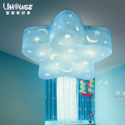 Star Children Room Lamps LED Lamps Boy Girl Creative Eye Cartoon Stars  Bedroom Ceiling Lamp
