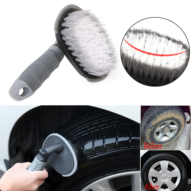 Image 2 - Vehicle Car Wheel Hub Rim Tyre Bend Shank Scrubbing Cleaning Brush Cleaner Car Wash Brushes Auto Maintenance-in Sponges, Cloths & Brushes from Automobiles & Motorcycles
