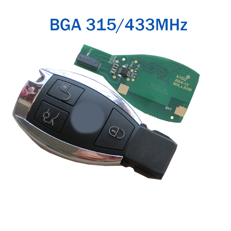 3 button Smart car key shell remote key fob case For Mercedes Benz C E Class 2010 2011 2012 2013 201 with BGA315/433MHz new updating smart key for benz 3 button 433mhz 315mhz easy to create a new key for mecerdes good quality