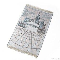 70*110CM tapis de prière musulman pour les affaires de voyage rouge bleu vert Portable tapis de prière à genoux Poly tapis musulman Islam tapis de prière