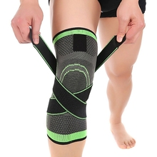 TOP!-3D weaving pressurization knee brace hiking cycling Support Protector Knee pad