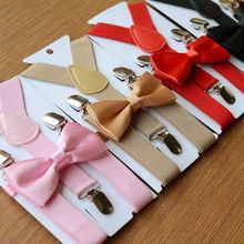 Детский смокинг на подтяжках и галстуке-бабочке для маленьких мальчиков, Свадебный костюм вечерние