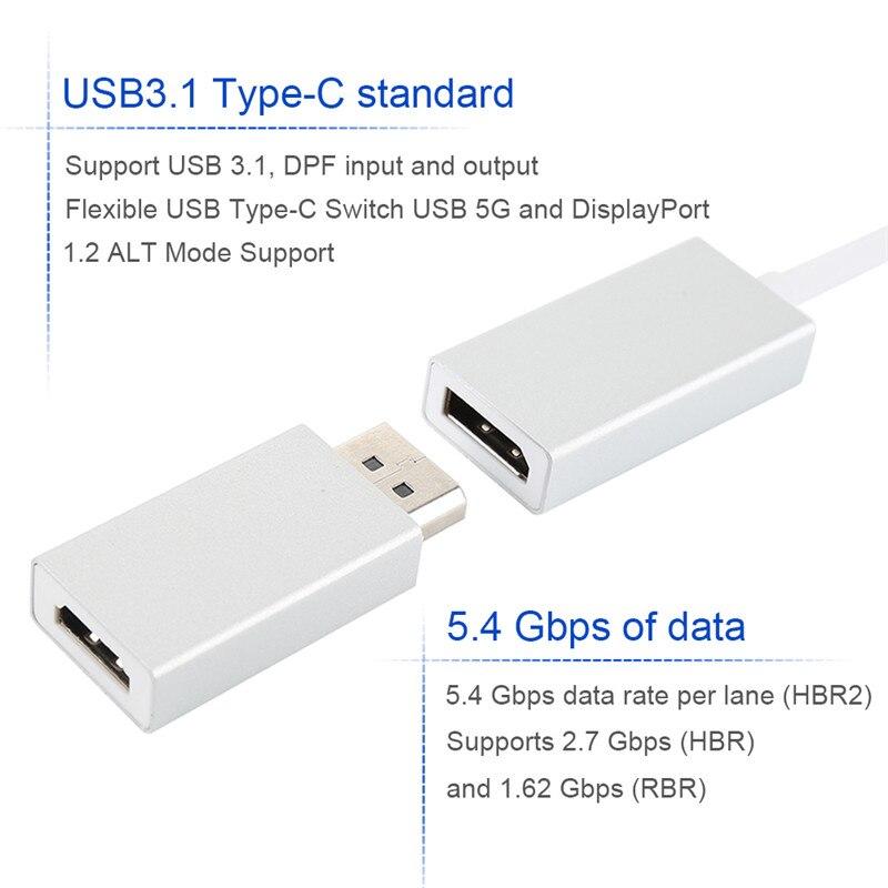 Centechia 3 в 1 TYPE-C DP + HDMI и DP к HDMI адаптер для Macbook/Samsung S8/ huawei Mate10/HDTV/проектор/Dell XPS13 ...