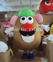 Новое поступление 2017 взрослых г н картофеля костюм талисман в форме головы мультфильма «История игрушек» для взрослых нарядное платье с ри