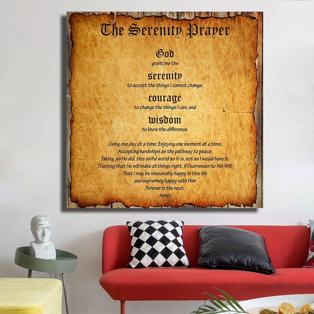 Garage Gym Wall Decor Qkart Canvas Painting Oil Painting Wall Decor Serenity Prayer Marlon Brando Wall Pictures For Living Room Posters And Prints In Painting Calligraphy