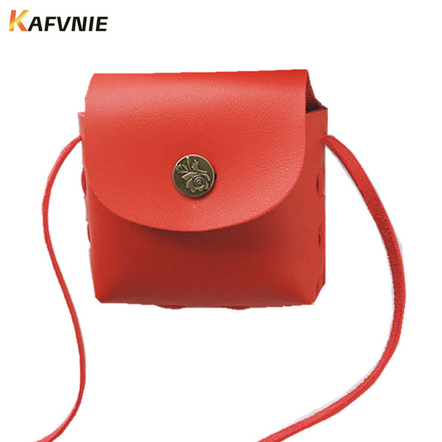 New Kids Mini PU Cute Crossbody Children Girls Red Satchel Shoulder Bags Princess Handbag Lovely Birthday Gift Messenger Bag
