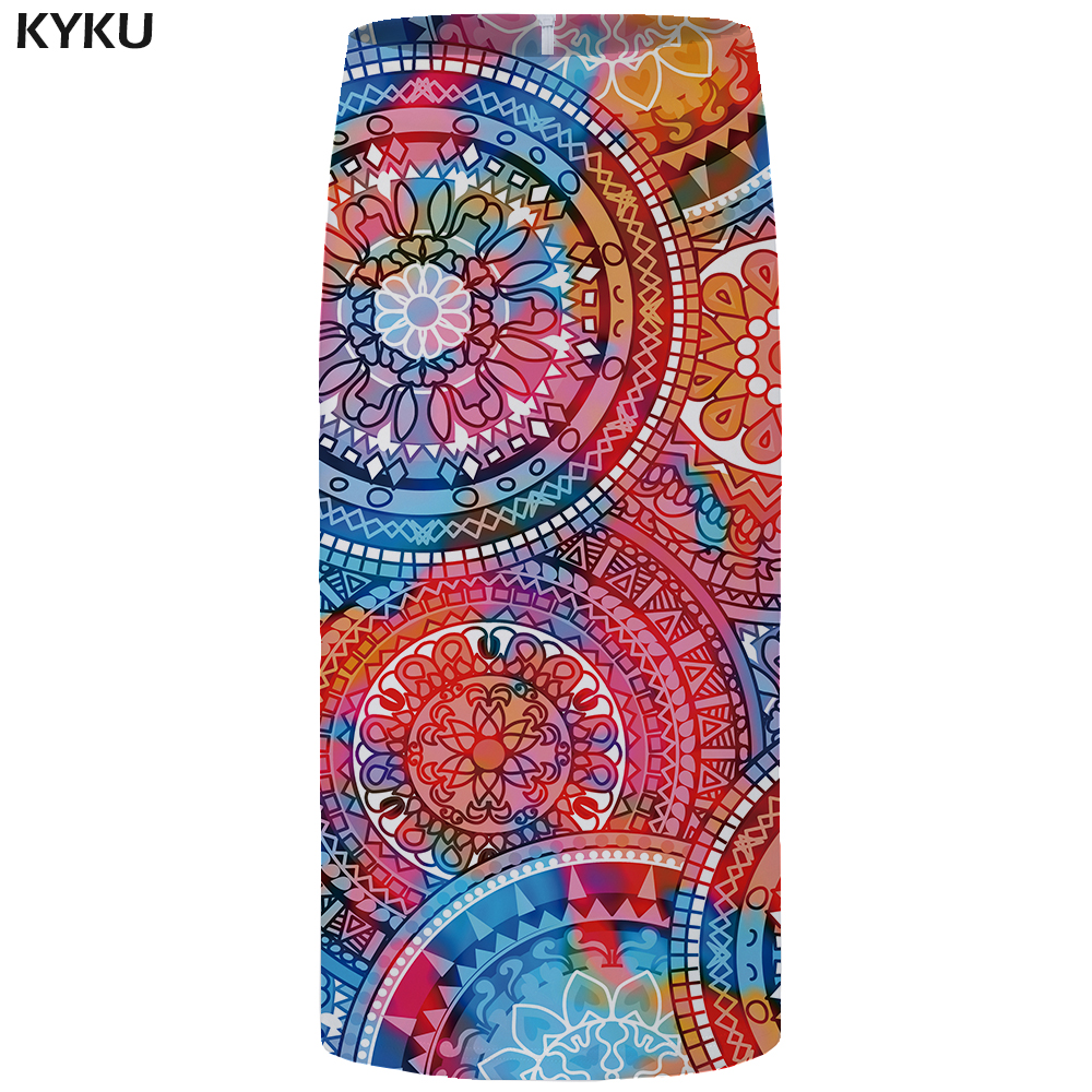 KYKU Brand Dragon Ball Skirts Women Goku Sexy Pencil Skirt 3d Print Tree Large Size Summer Office Ladies Skirts 2018 Knee Length