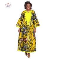 BRW 2017 Bán Buôn Váy Phi cho Phụ Nữ Dashiki Ropa Châu Phi Truyền Thống Phi Áo Dài In Phi Dresses WY175