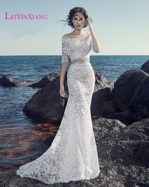 Wedding Dresses 2017 New Arrival Elegant Petite Size Mermaid Lace  Sweetheart Zipper Robe De Mariage Vestido