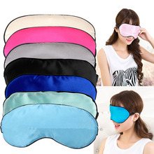 Soft Pure Silk Sleep Eye Mask Padded Shade Cover Aid Blindfold Mystery Game Sex Toys For Couple Lover