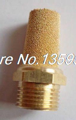 100pcs Pneumatic Filter Silencer Sintered Bronze 1/2 BSPT 5pcs solenoid valve pneumatic filter silencer sintered bronze 1 4 pt thread muffler filter