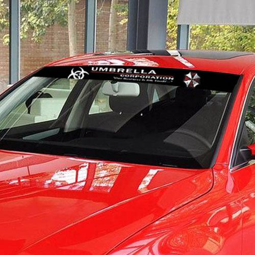 Resident Evil Umbrella Corporation car windshield stikcer sun visor stickers  and decals for all cars jeep