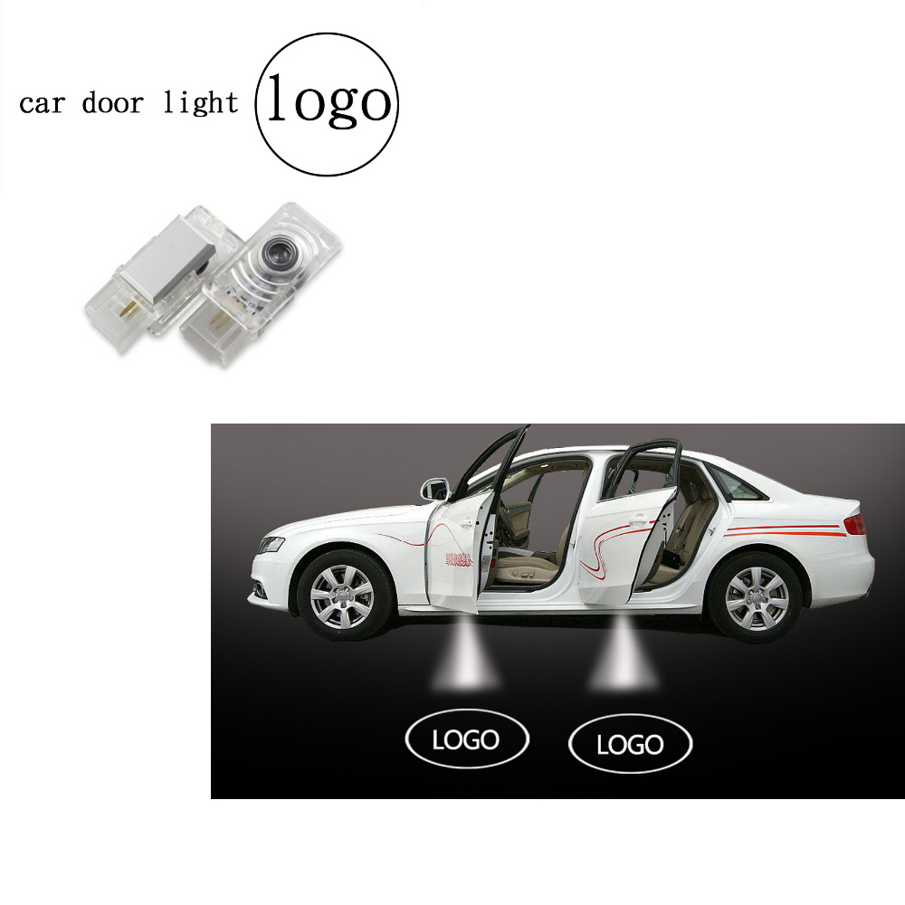 2pcs Led Car Door Logo Lights Wireless Auto Emblem Lamp Replacement Accessory for Cadillac SRX XTS SXT ATS CTS видеорегистратор зеркало artway av 610