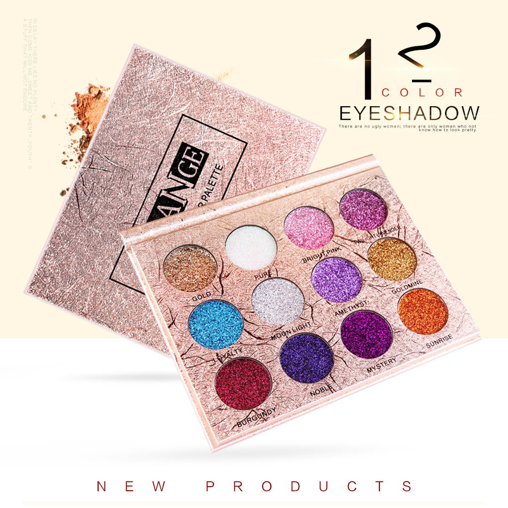 US $6 69 |MAANGE 12 Colors Eyeshadow eye shadow Luxury Golden Matte Nude  Eye Shadow Palettes eyeshadow makeup factory direct 0906-in Eye Shadow from