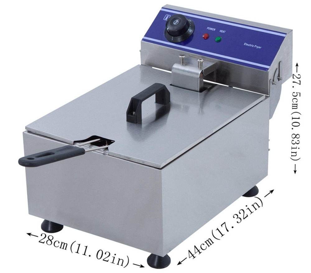 Us 74 88 Stainless Steel Electric Deep Fat Potato Chip Fryer Deep Fryer Commercial Basket French Fry Machine In Electric Deep Fryers From Home