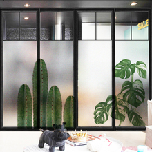 window glass stickers Electrostatic scrub Monstera film feather deer warm transparent opaque