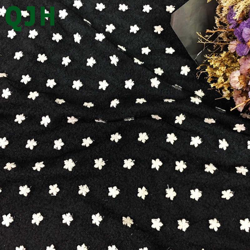 האביב & הקיץ החדש בד רקמת תחרה שוויצרית בדי חוט רקמת פרח קטן נטו רשת רכה מרענן לשמלת כלה