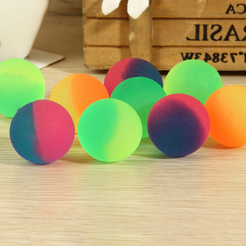 Subcluster 10 Pcs 32mm Noctilucent Ball Luminous Candy Colors High Bounce Ball for Kids in Toy Balls from Toys Hobbies