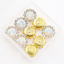 Shine Clear Crystal Sewing Rhinestone Gold Claw 10mm/12mm 20pcs ab colors Sew on Beads Bags Wedding Dress diy