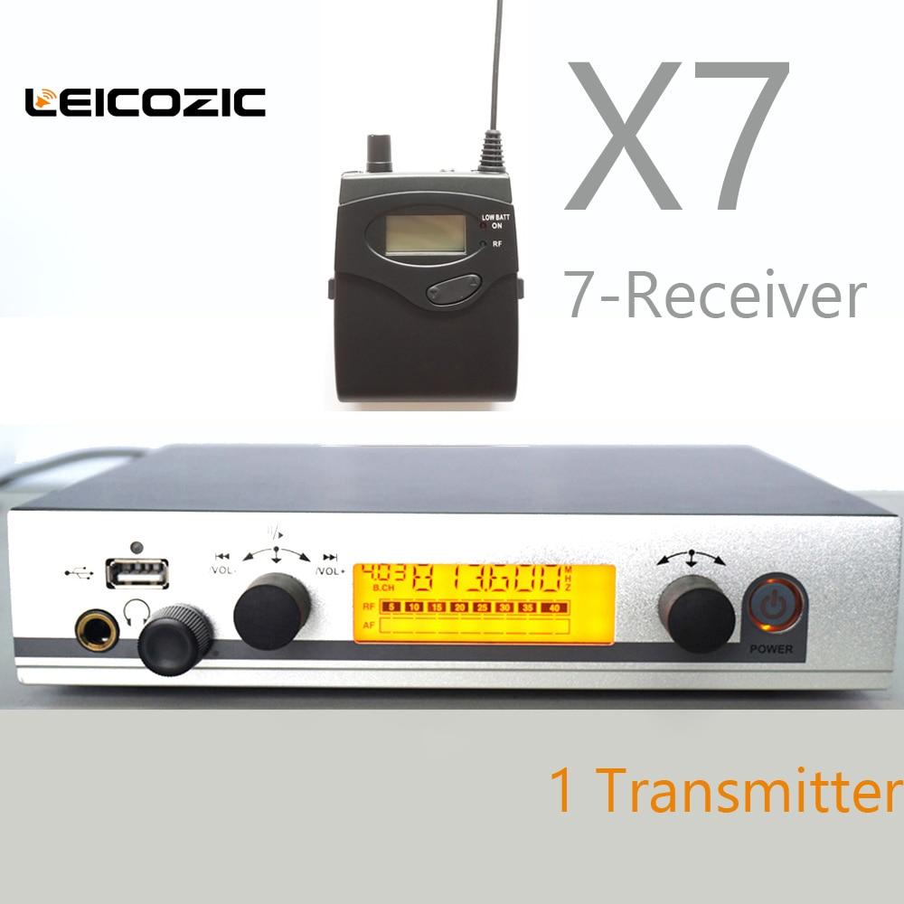 Leicozic Monitor In Ear 7 Receivers 300g3 Iem In Ear Monitor Wireless System In Ear Monitors Professional Iem Wireless Systems