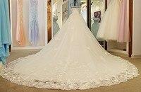 2018 реальное изображение Белый спинки сексуальное свадебное платье Лодка шеи Бисер Кристалл Тюль невесты свадебные платья