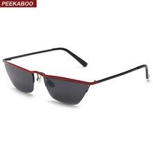 Peekaboo retro pequeño estrecho gafas de sol de las mujeres ojo de gato  2019 marco medio de gafas de sol para hombre regalo uv40. ca71f59a30be