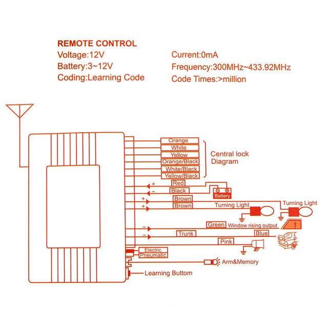 Central Lock Wiring Diagram Universal - Schematic Diagrams
