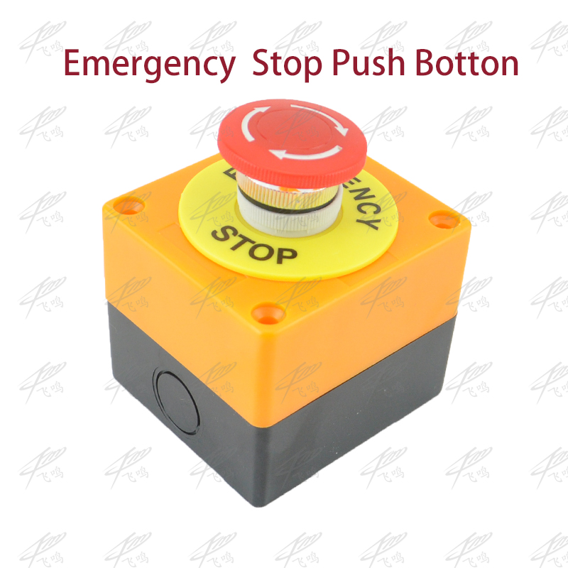 1 PC Plastic Shell Red Sign Push Button Switch DPST Mushroom Emergency Stop Button AC 660V 10A NO+NC LAY37-11ZS Free Shipping red sign mushroom emergency stop push button switch station 1 nc normally closed