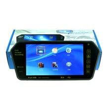 Новый 7 дюймов Bluetooth для камера заднего вида ЖК-дисплей монитор зеркала автомобиля MP5 MP4 Обратный заднего Мониторы для TF/USB FM Transimitter