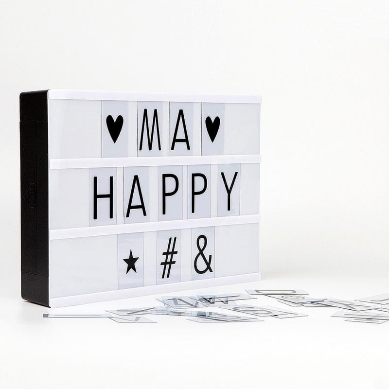 DIY Cinema Light Box With 90 Letters Symbols LED marquee Light A4 A5 ...