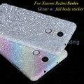 Diamante de luxo glitter adesivo ultra fino para xiaomi redmi 3 s/nota 3/4/pro/prime completa cobertura da pele decal film matte case capa