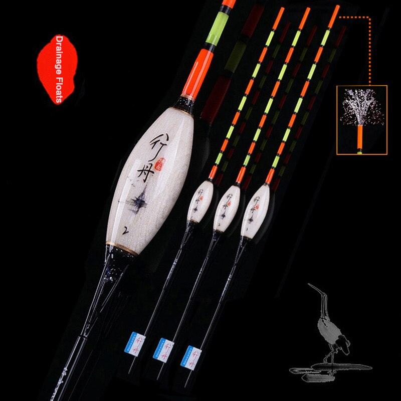 Bouée queue creuse Balsa bois flotteur de pêche 1-3 # carpe Crucian Drainage pêche Bobber haute qualité Boya accessoires de pêche