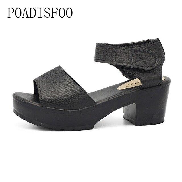 LTARTA  Women Wedges Sandals Fashion Casual Platform Sandals Metal Decor Summer Shoes EU Size 35-41 Platform sandals.XL-21