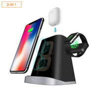 3 IN 1 Fast QI Wireless Charger For Apple Watch Magnetic Charger For Samsung S9 S8 S7 IPhone 8 Plus X XR XS AirPods Dock Station